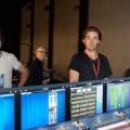 Zazie à l'Olympia 2011/05. Après le concert et à l'arrière de la XL8, de gauche à droite Bellote, Yves Jager, Sébastien Rouget et tout à droite mort de rire, Thibault Maestracci