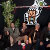 Vieilles Charrues 2009/07 : De gauche à droite Thierry Tanguy le boss d'Audiolite, Stéphane Lebrun ingé système, Thomas Barbarat assistant façade, Didier Dal Fitto directeur technique DV2 et David Guillomard