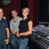 L'équipe son avec de G à D, Nicolas Aznar, Matthieu Speck, et Elyse Leclerq.