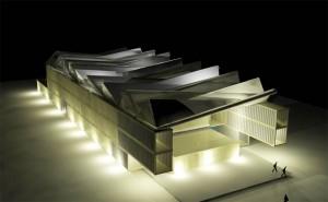 projet de salle de spectacle composée de containers