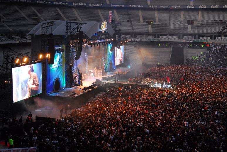 View of the Urban Peace 2 stage, October 2008