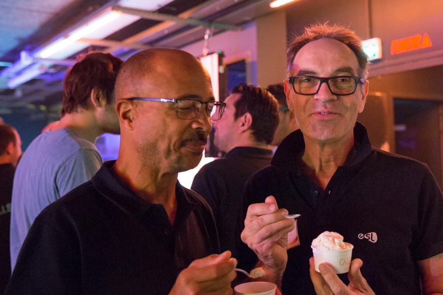 Alain Amory à gauche et Alain Corneveaux