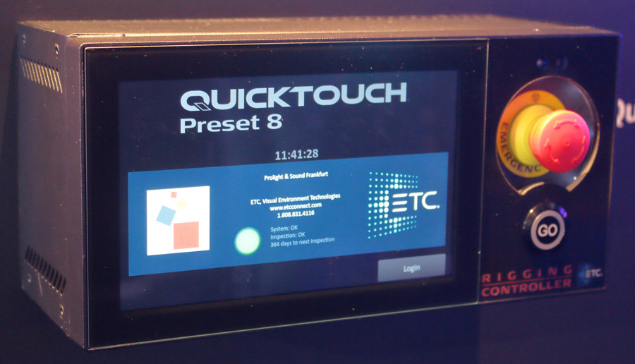 New ETC touchscreens for lift control and architectural