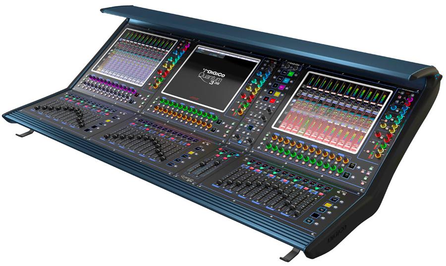 La console de mélange numérique de nouvelle génération de Digico, la Quantum 338.
