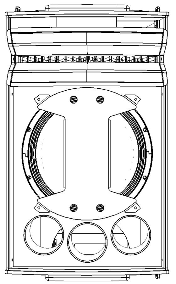 Une vue issue de la fiche technique de la MDC J14, une enceinte distribuée par Sequoia.