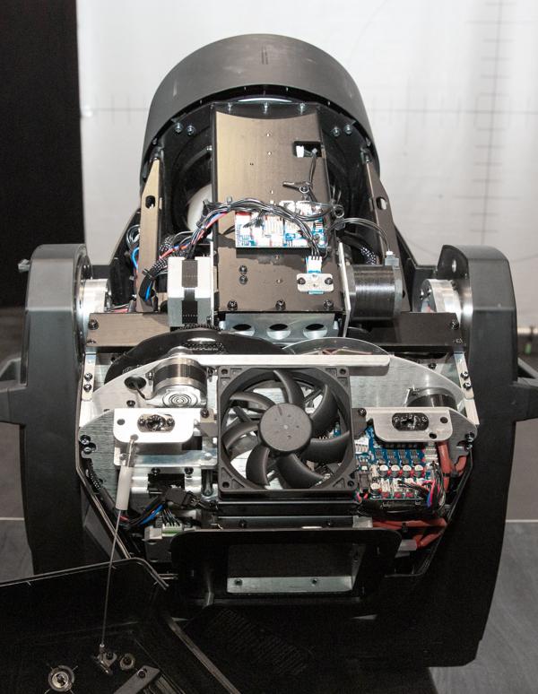 Vue interne du Vari-Lite VL10